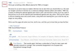 Time auf Google+