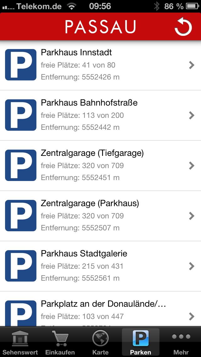 Parkplatz App Passau